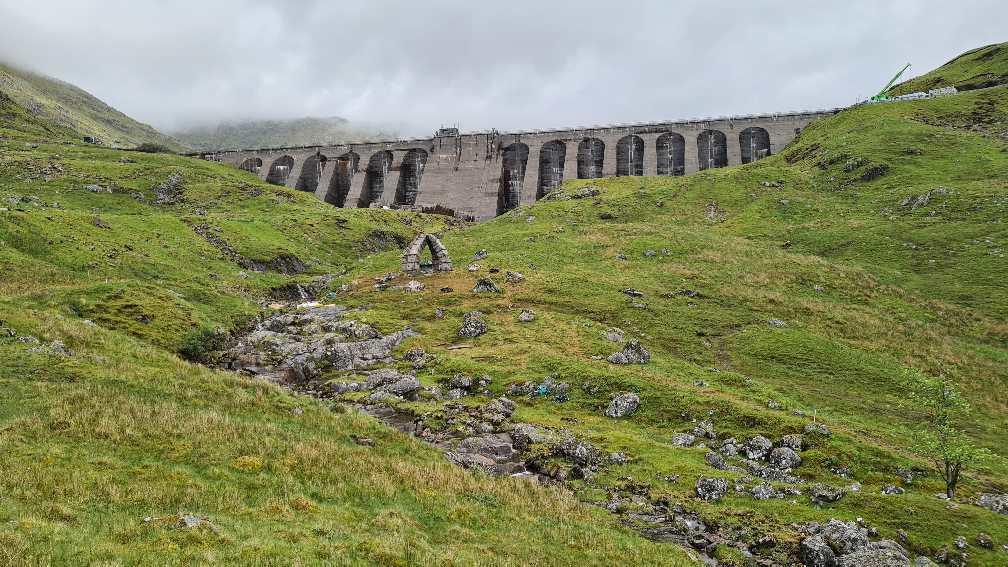 Cruachan Dam on Ben Cruchan