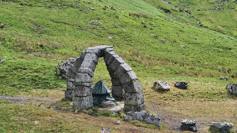 Odd structure at base of Cruachan Dam