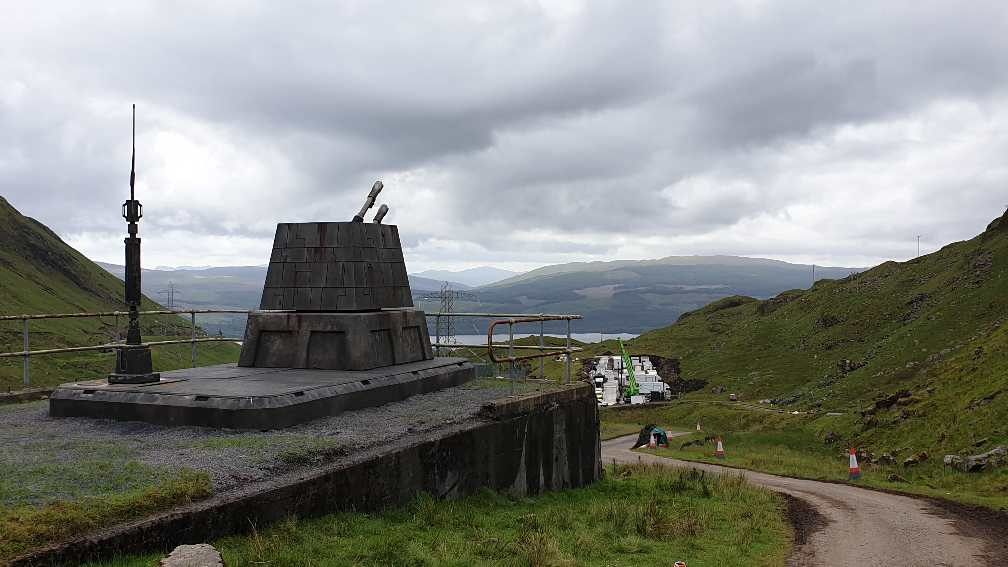 Star Wars guns on Ben Cruachan Dam