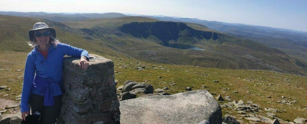 Jane on summit of Lochnagar